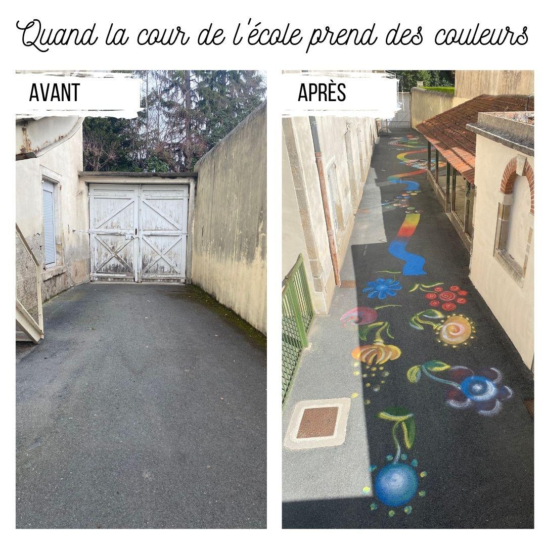 Des couleurs dans la cour des maternelles !