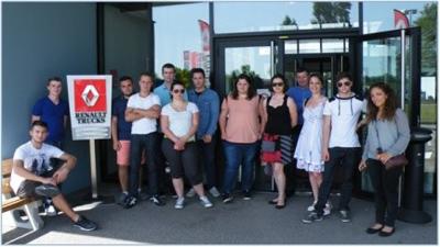 Les BTS TPL en visite chez Renault Trucks