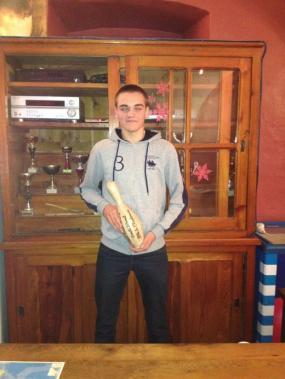 Evan GUEZO élève de 1° Bac Pro SEN avec un score de 140 Pts